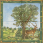 Mobile Preview: Serviette - Hirsch - Landschaft - ganzes Motiv - vt026