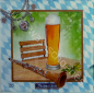 Preview: Serviette - Biergarten - Traditionen - Hut - Bier - Brezel - Bayern - vv010