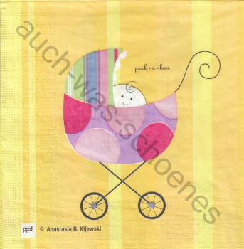 Serviette - Baby unterwegs - Kinderwagen - Mama - Kind - gb038