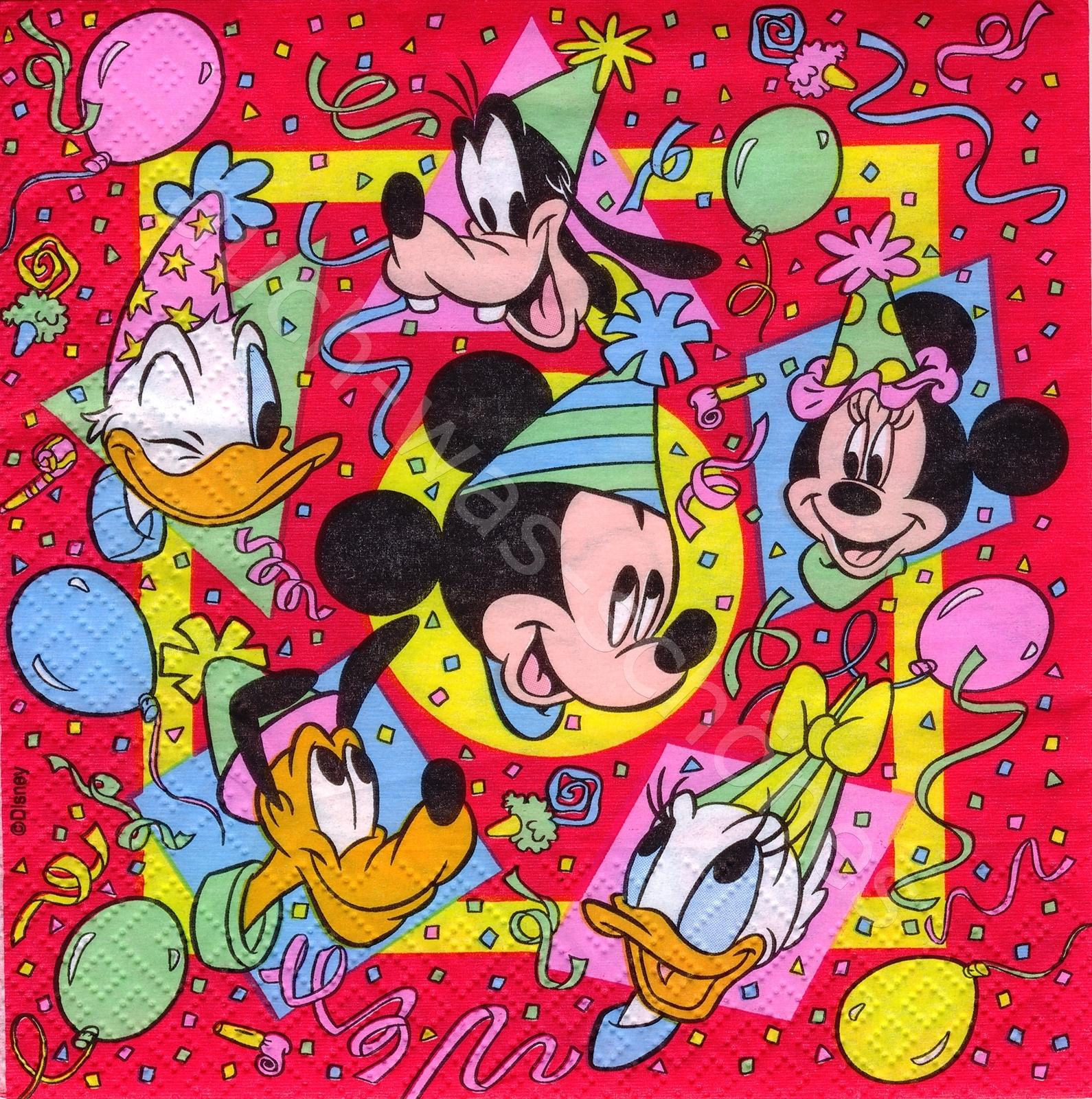 Servietten Shop Basteln Sammeln Serviette Disney Mickey Mouse
