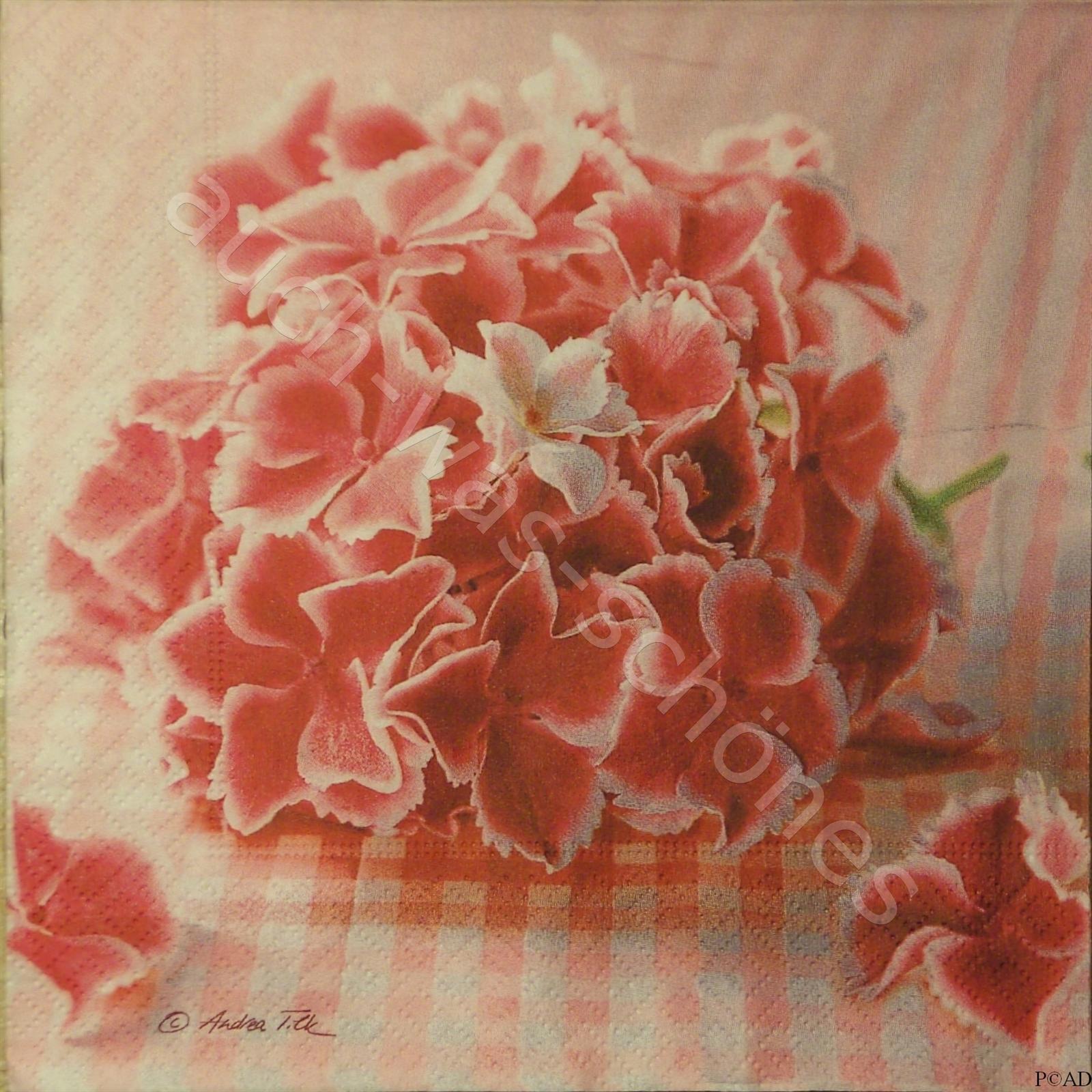 Servietten Basteln Sammeln Hortensien Blumen