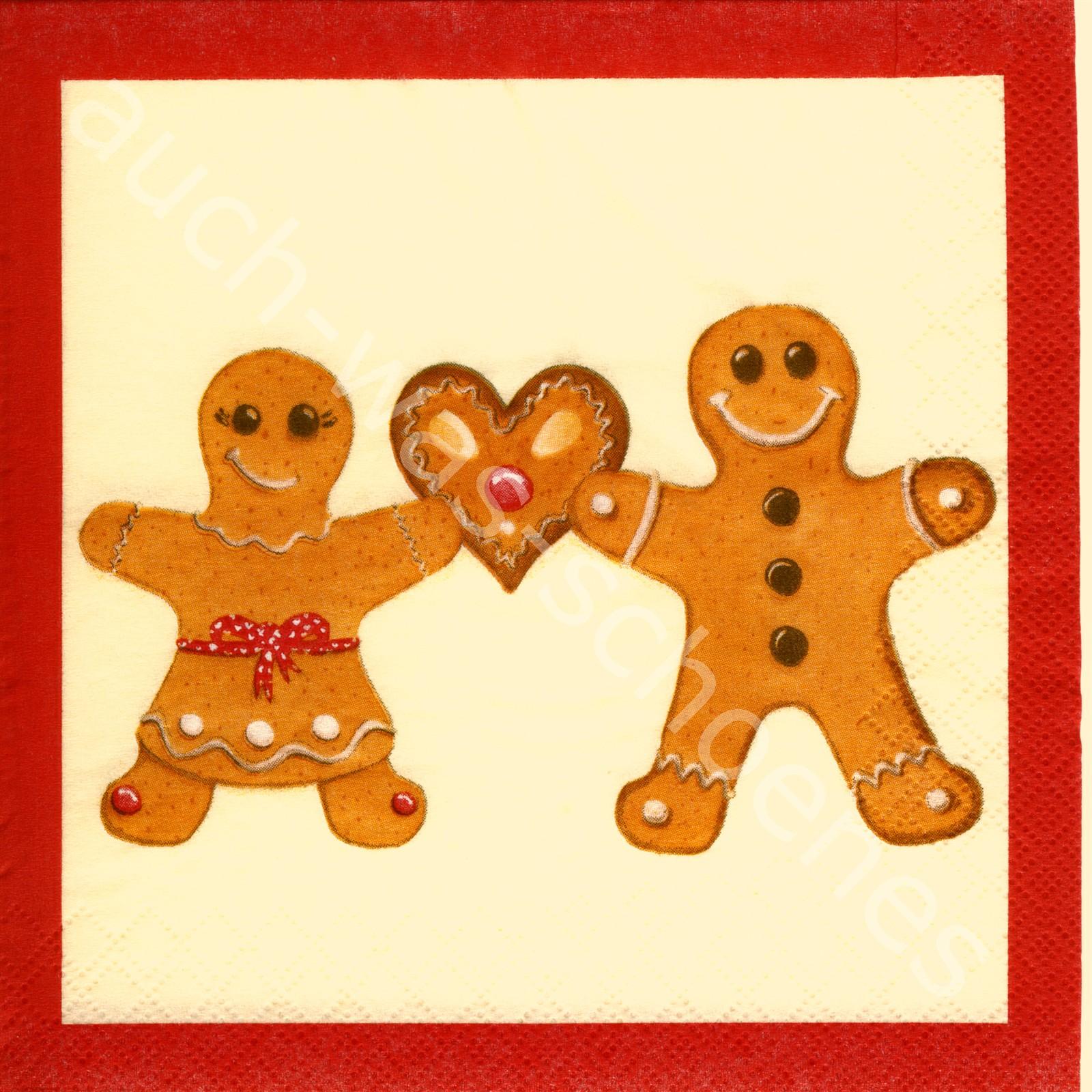 4 Servietten Weihnachten Lebkuchenmann