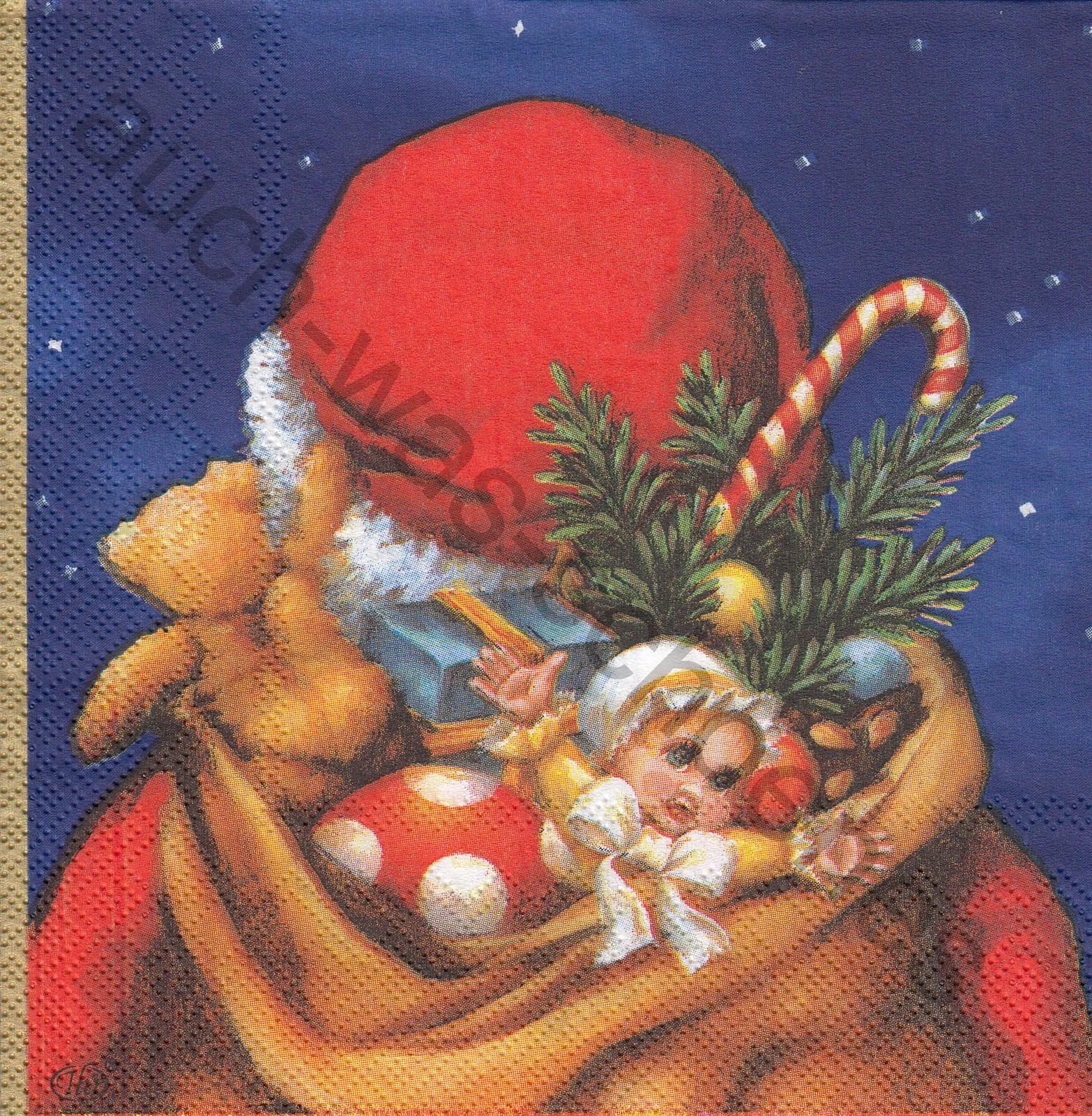 Teddy Weihnachten.Santa Claus Teddy Weihnachten Spielzeug Blue Wn418