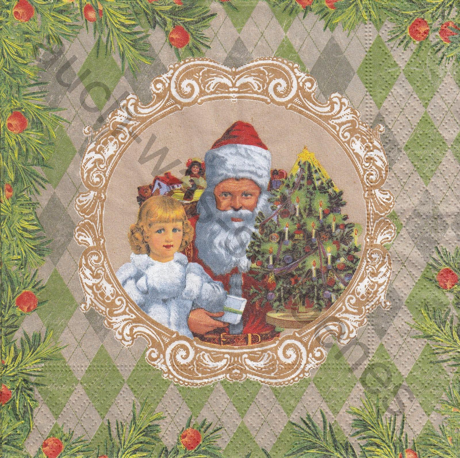 Servietten basteln sammeln - Santa Claus - Mädchen - Kind ...