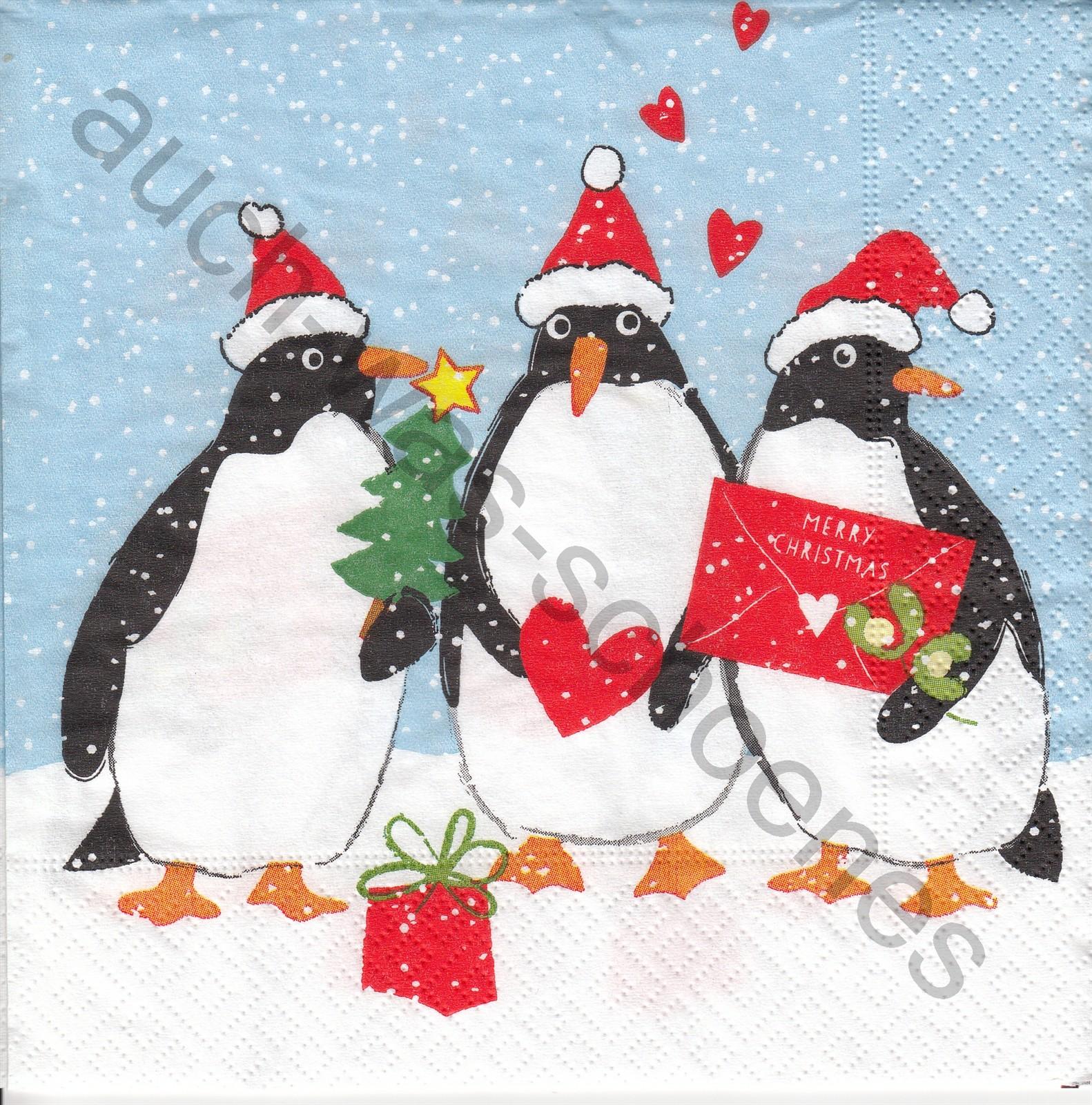 Bilder Weihnachten Lustig.Lustige Pinguine Tiere Weihnachten Wn455