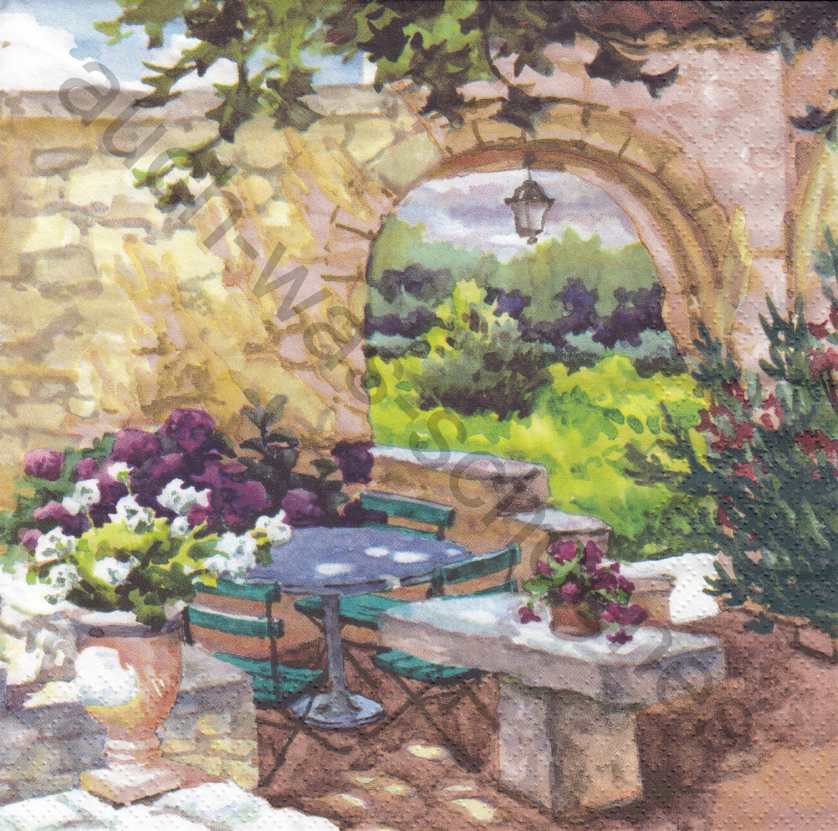 Terrasse in der Provence - Patio Morning in Provence - ga201