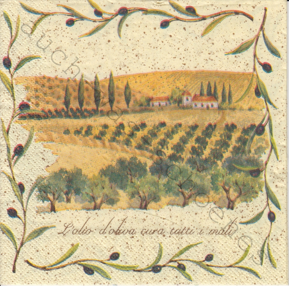 Serviette - In der Toscana - Landschaft - la125